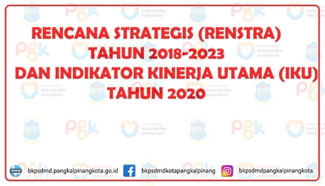 RENCANA STRATEGIS (RENSTRA) TAHUN 2018-2023 DAN INDIKATOR KINERJA UTAMA (IKU) TAHUN 2020