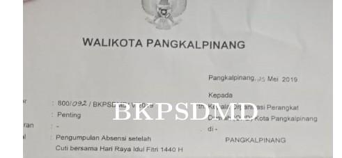 SURAT EDARAN UNTUK TGL 10 JUNI 2019